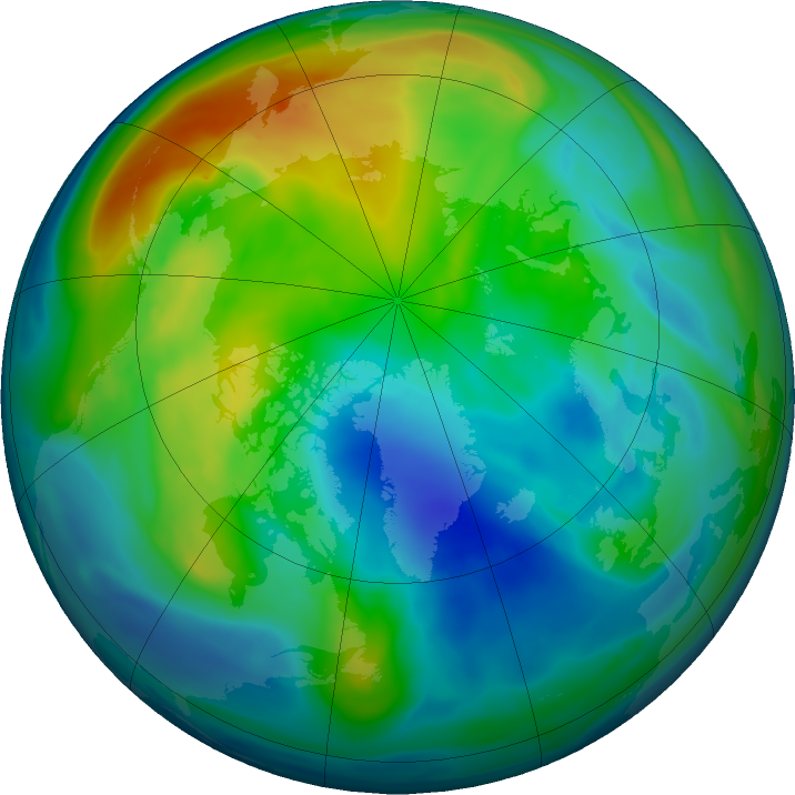 Arctic ozone map for 28 November 2017