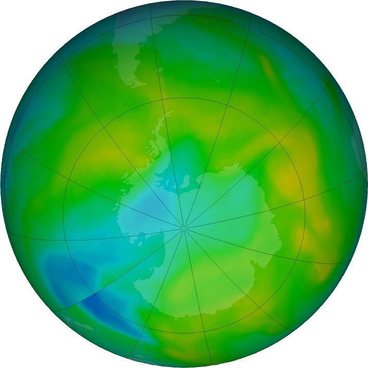 Antarctic ozone map for 30 November 2017