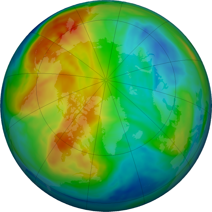 Arctic ozone map for 15 December 2017
