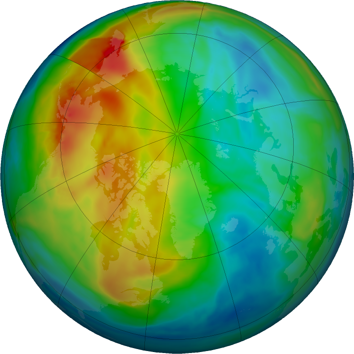 Arctic ozone map for 16 December 2017