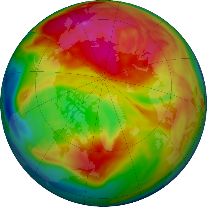 Arctic ozone map for 17 February 2018