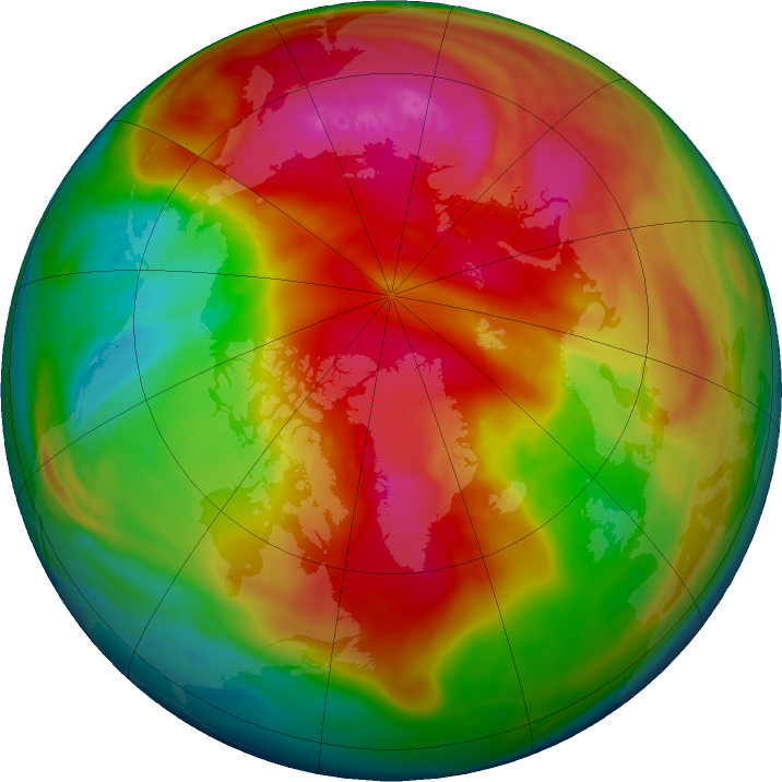 Arctic ozone map for 19 February 2018