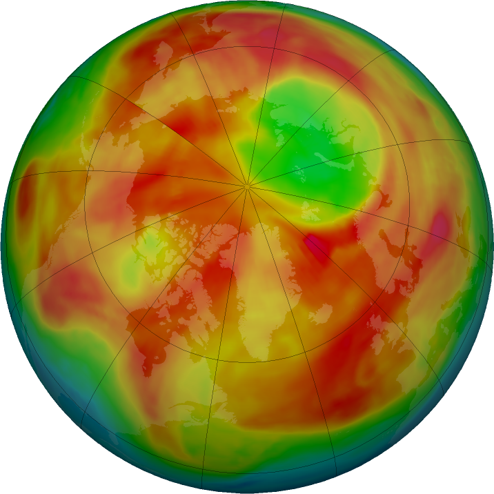 Arctic ozone map for 04 March 2018