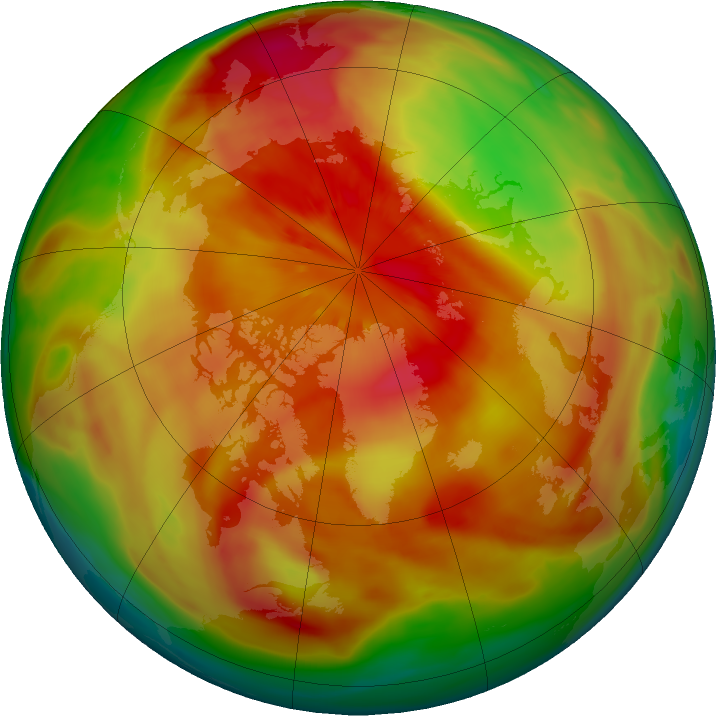 Arctic ozone map for 17 March 2018