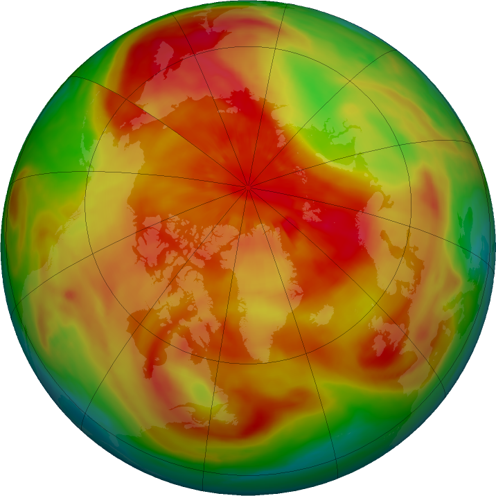 Arctic ozone map for 18 March 2018