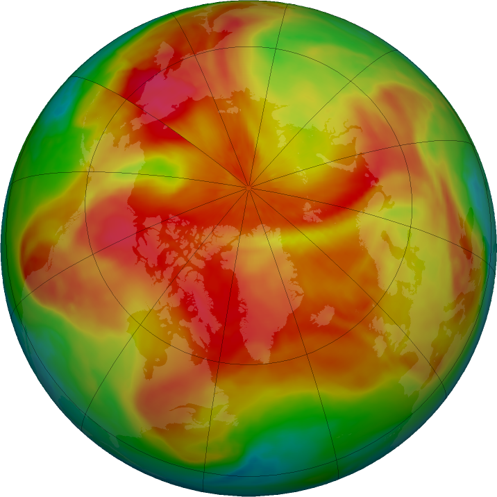 Arctic ozone map for 24 March 2018