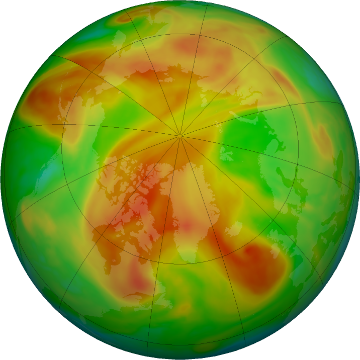 Arctic ozone map for 11 May 2018