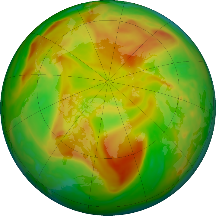 Arctic ozone map for 19 May 2018