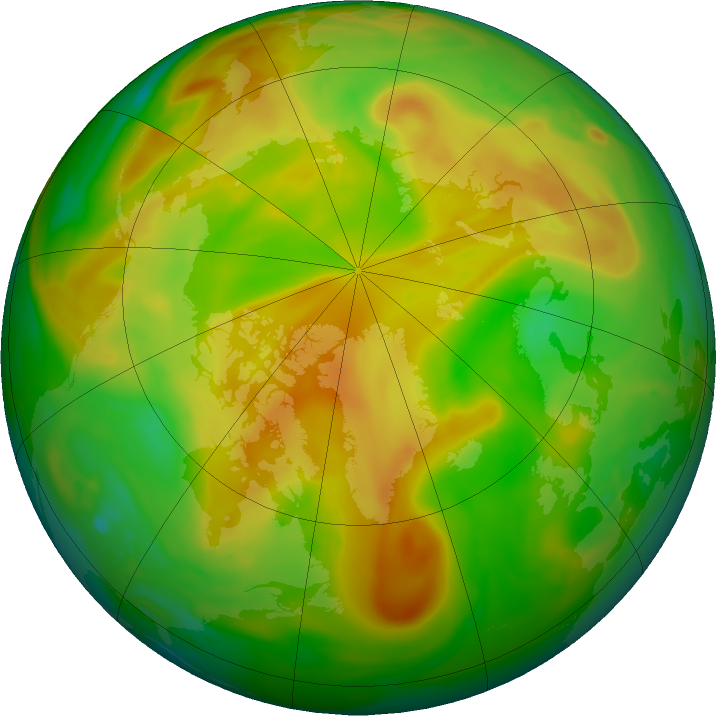 Arctic ozone map for 28 May 2018
