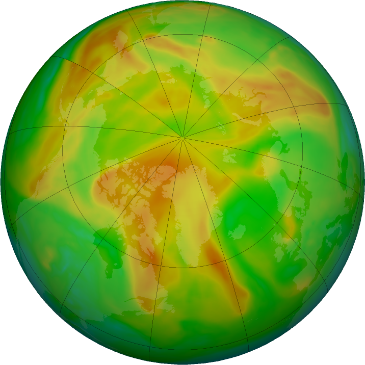 Arctic ozone map for 29 May 2018