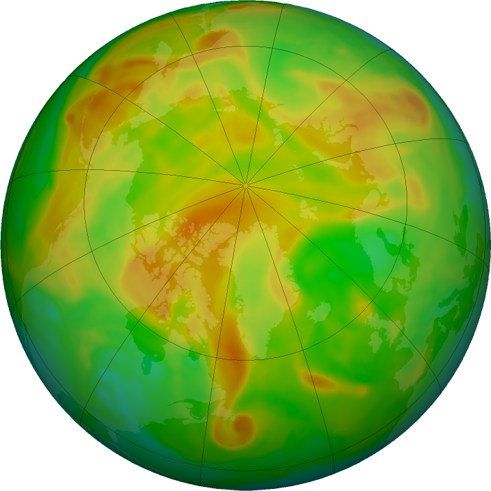 Arctic ozone map for 30 May 2018