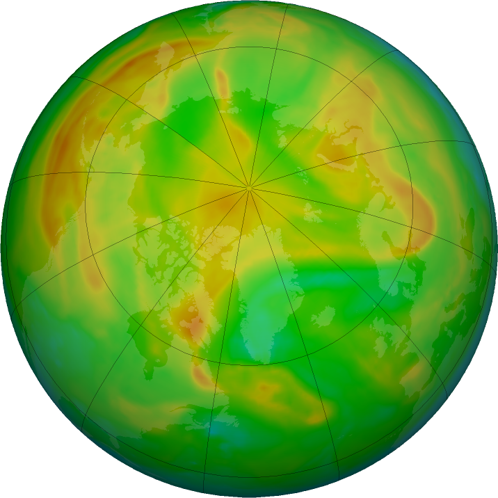Arctic ozone map for 05 June 2018