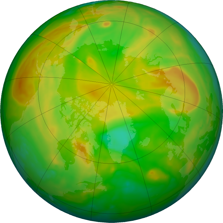 Arctic ozone map for 06 June 2018