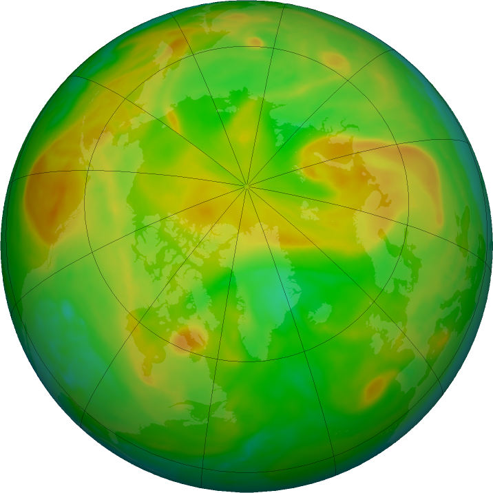 Arctic ozone map for 07 June 2018