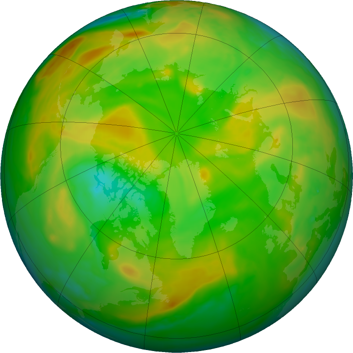Arctic ozone map for 12 June 2018