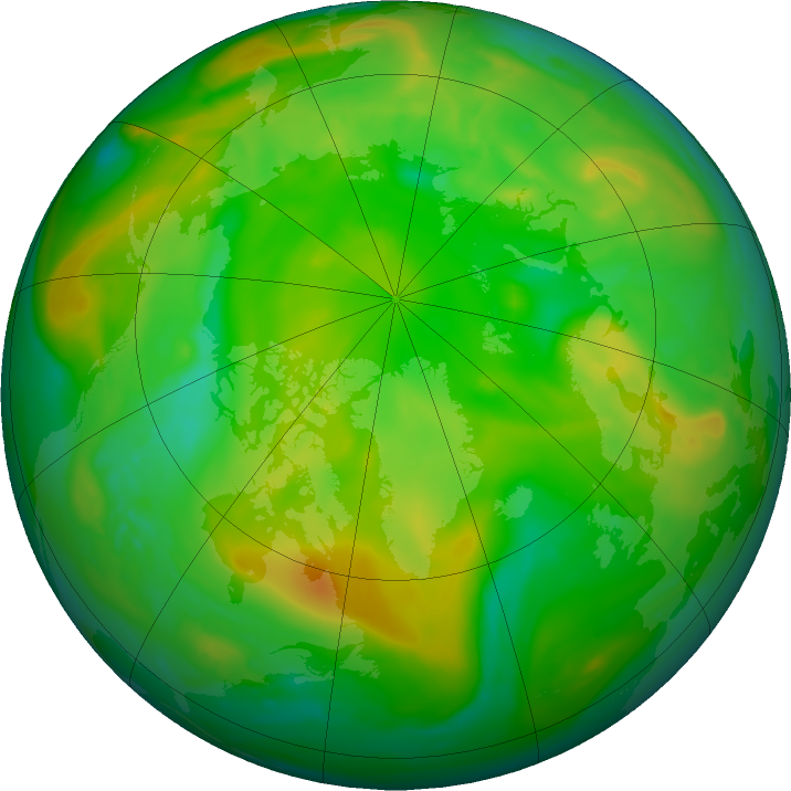 Arctic ozone map for 23 June 2018