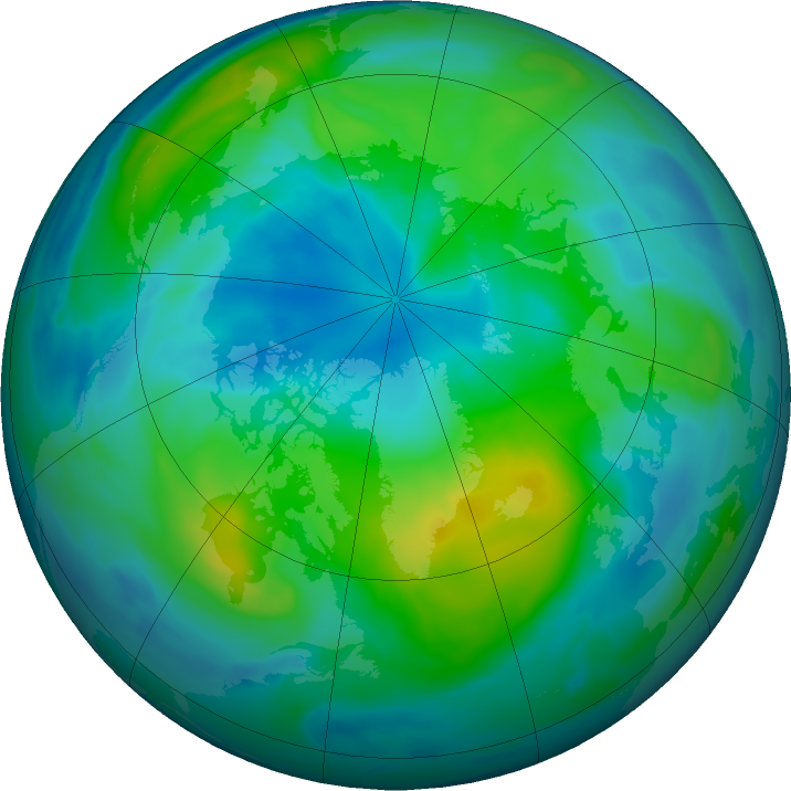 Arctic ozone map for 04 October 2018