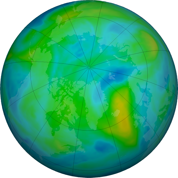 Arctic ozone map for 13 October 2018