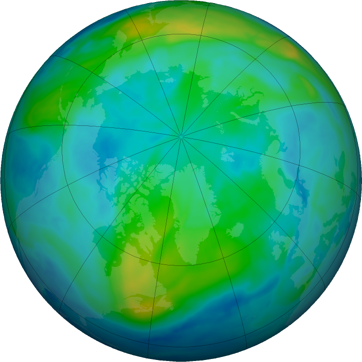Arctic ozone map for 18 October 2018
