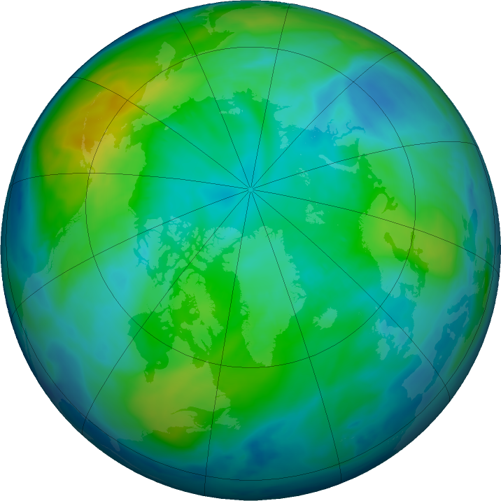 Arctic ozone map for 24 October 2018