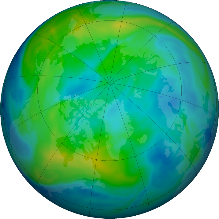 Arctic ozone map for 02 November 2018