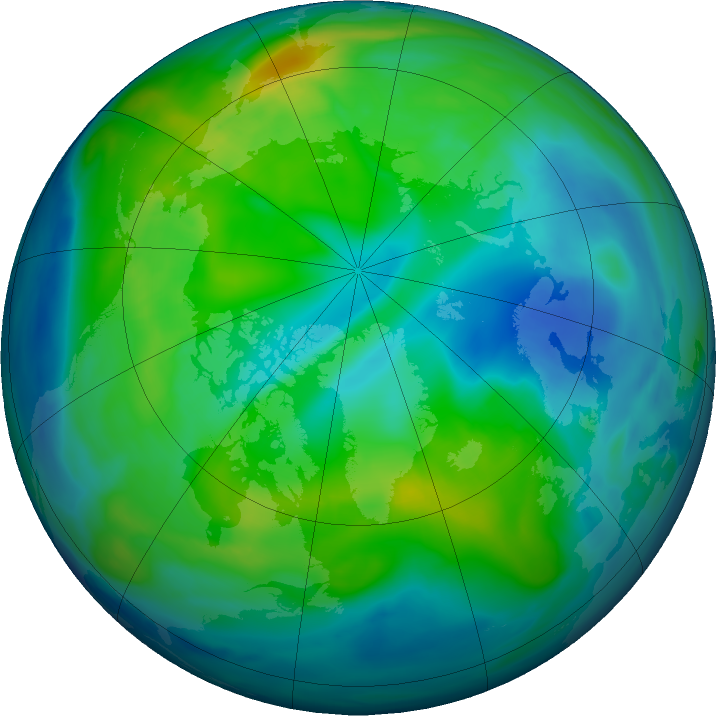 Arctic ozone map for 04 November 2018