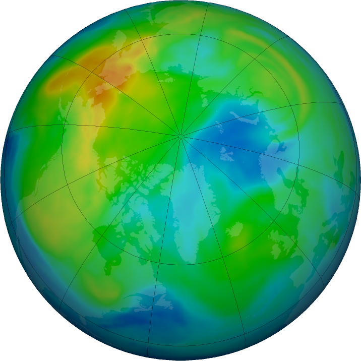 Arctic ozone map for 10 November 2018