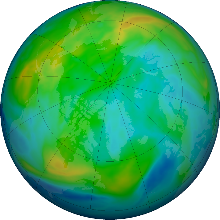 Arctic ozone map for 13 November 2018