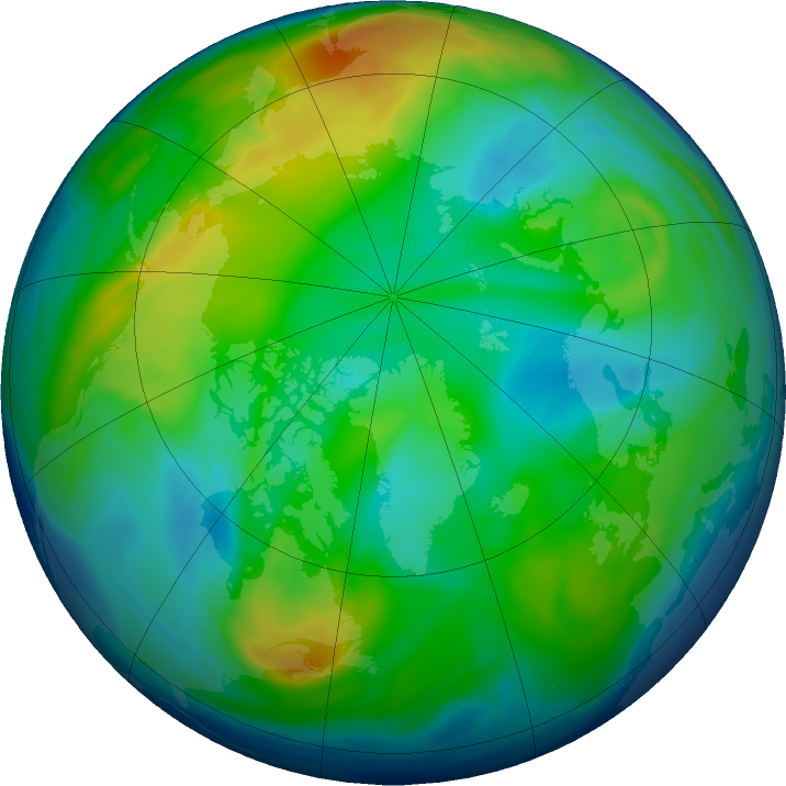 Arctic ozone map for 22 November 2018