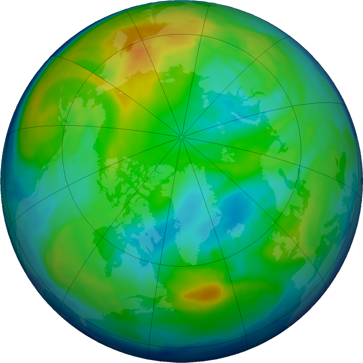 Arctic ozone map for 25 November 2018