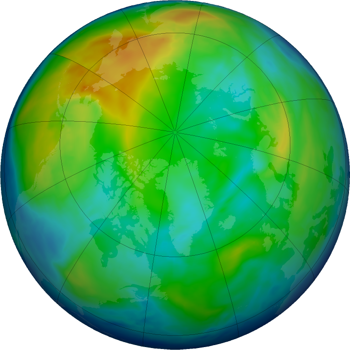 Arctic ozone map for 27 November 2018