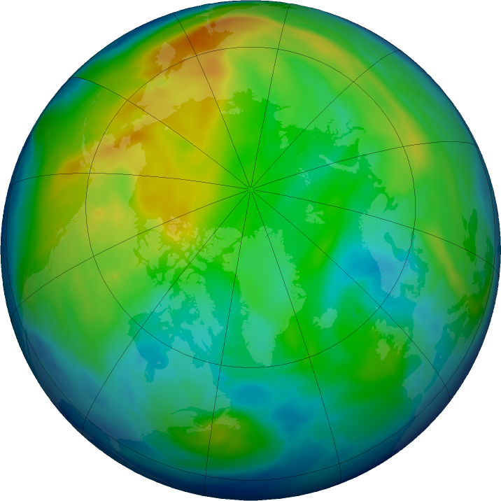 Arctic ozone map for 29 November 2018
