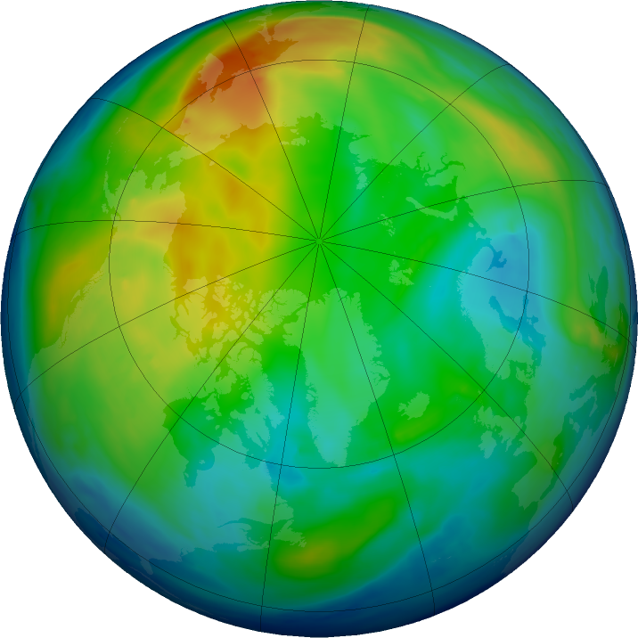 Arctic ozone map for 30 November 2018
