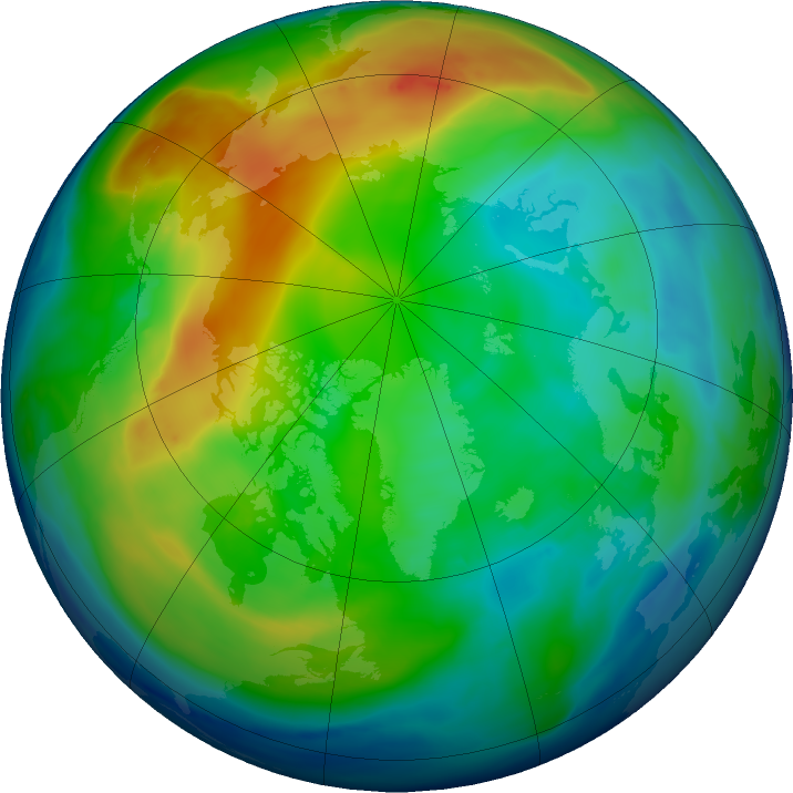 Arctic ozone map for 04 December 2018