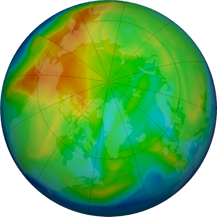 Arctic ozone map for 13 December 2018