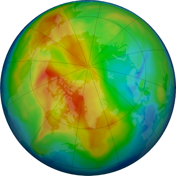 Arctic ozone map for 21 December 2018