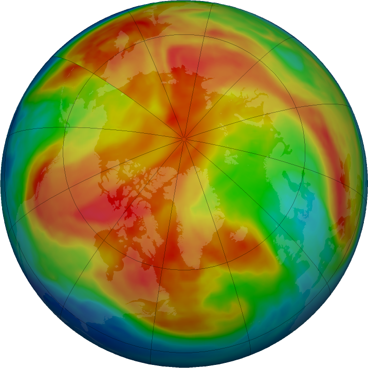 Arctic ozone map for 23 February 2019