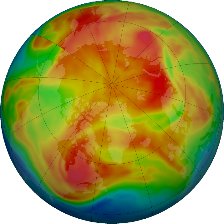 Arctic ozone map for 06 March 2019