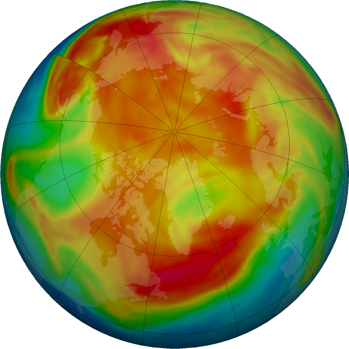 Arctic ozone map for 09 March 2019