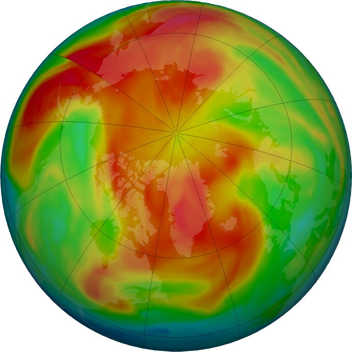 Arctic ozone map for 22 March 2019