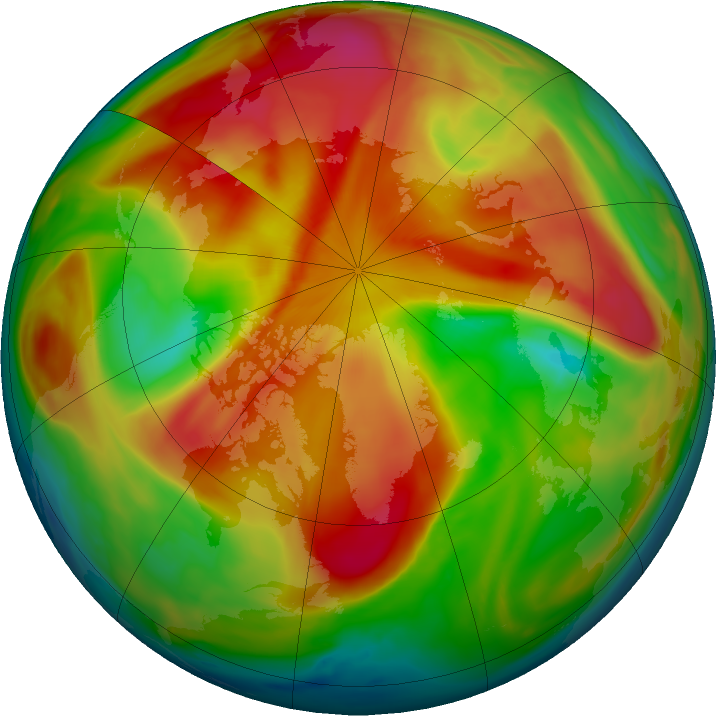 Arctic ozone map for 27 March 2019