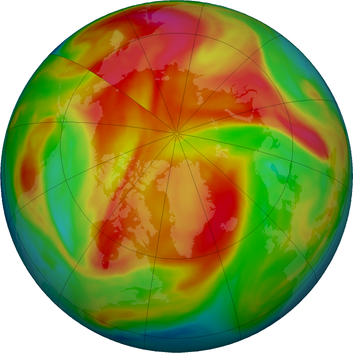 Arctic ozone map for 28 March 2019