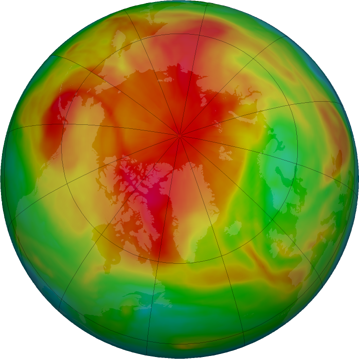 Arctic ozone map for 23 April 2019