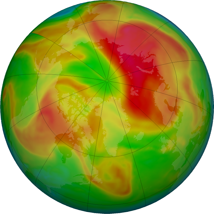 Arctic ozone map for 02 May 2019
