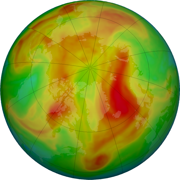 Arctic ozone map for 10 May 2019
