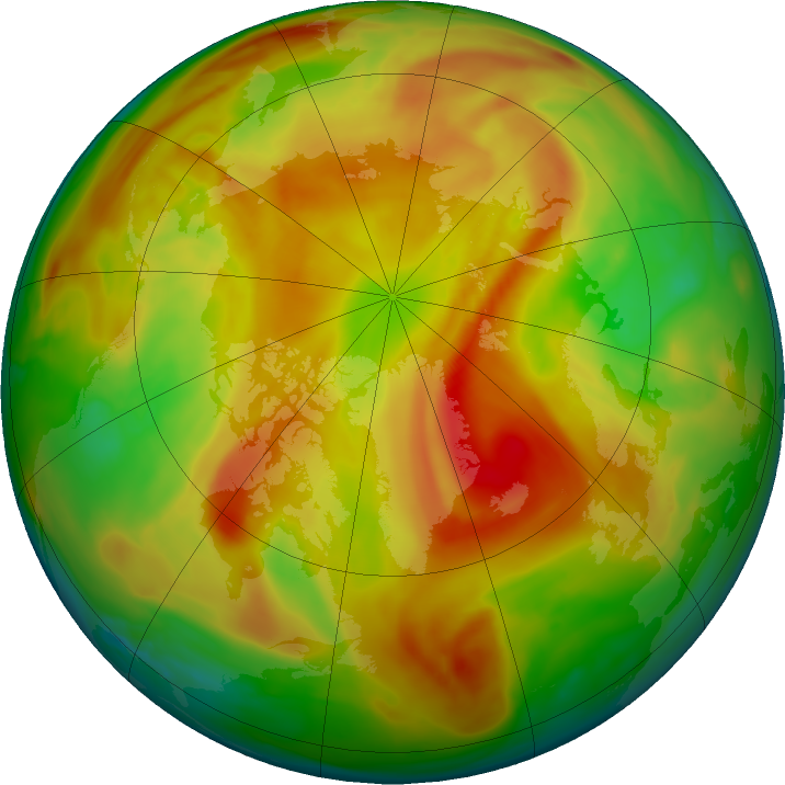 Arctic ozone map for 11 May 2019