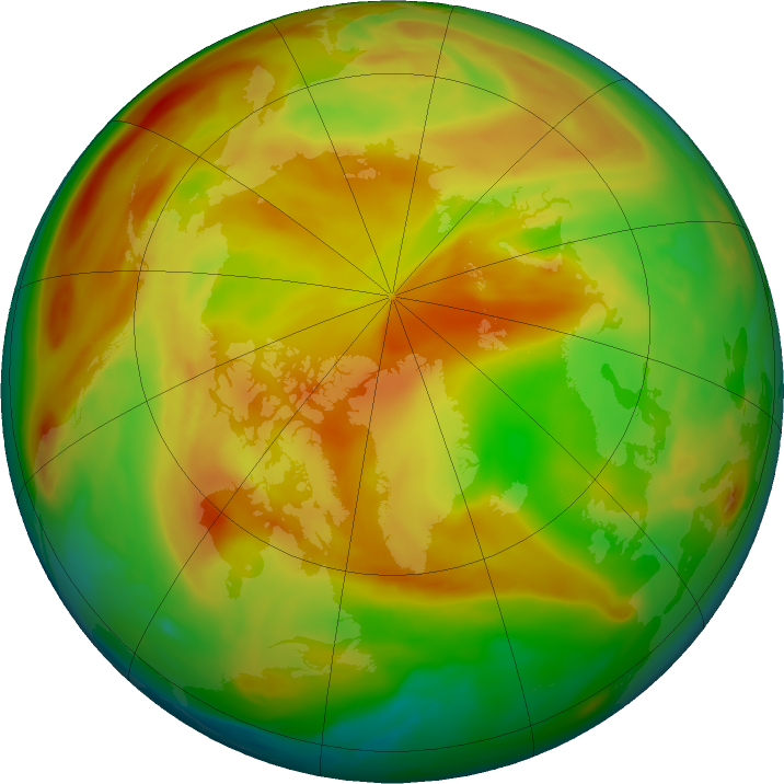 Arctic ozone map for 16 May 2019