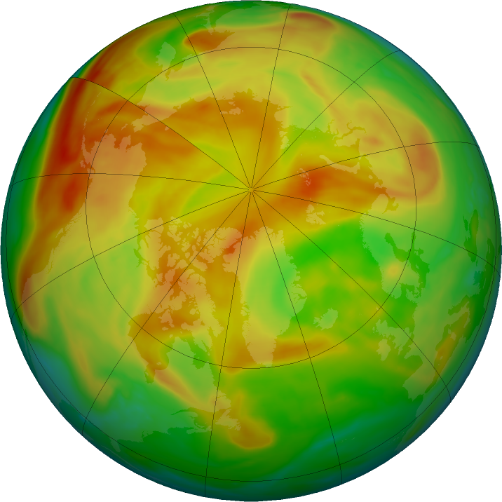Arctic ozone map for 19 May 2019