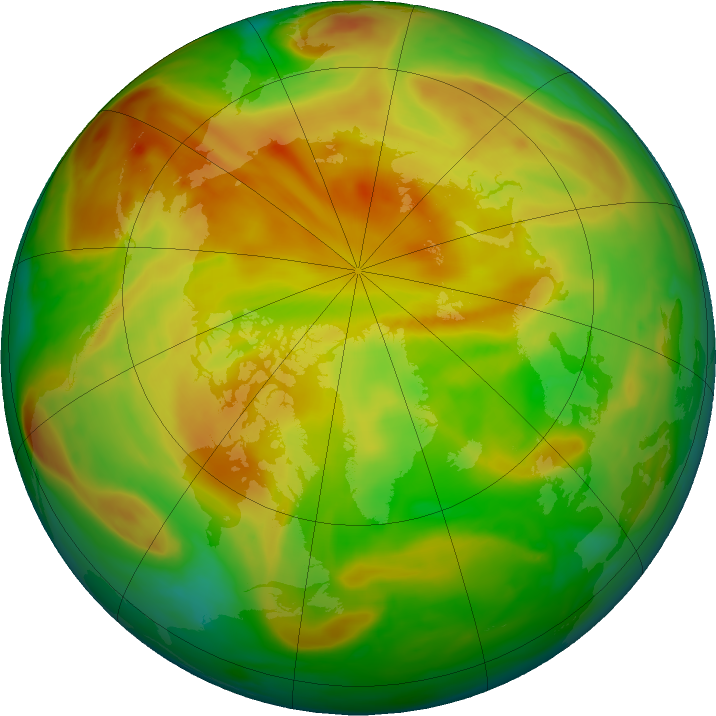 Arctic ozone map for 22 May 2019