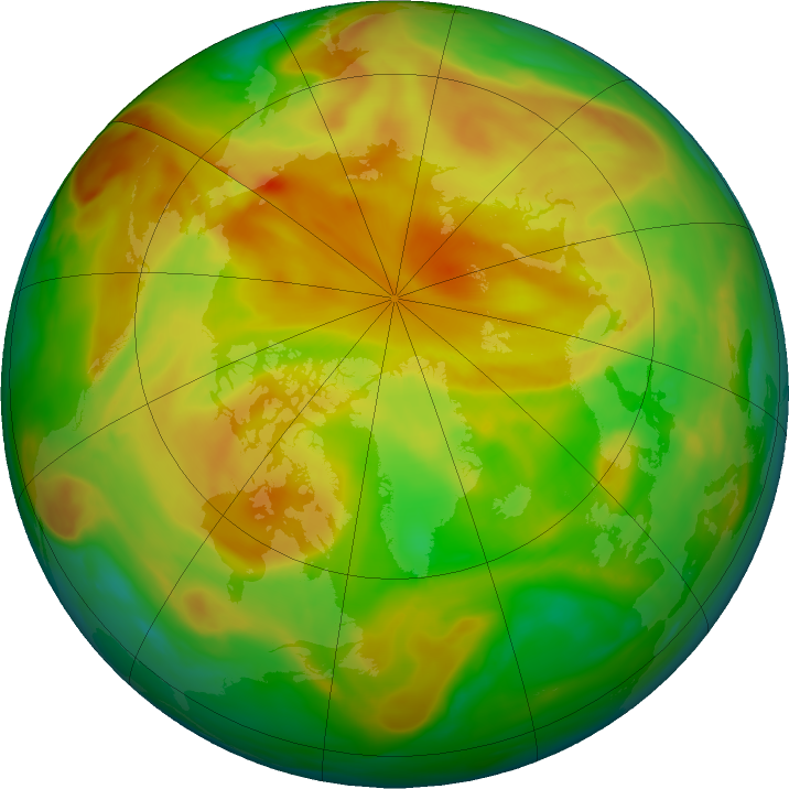 Arctic ozone map for 23 May 2019